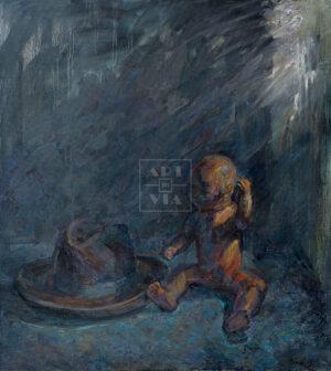 Картина. Натюрморт с куклой и шляпой