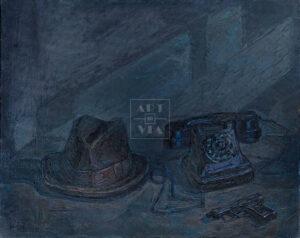 Картина. Натюрморт с пистолетом и шляпой