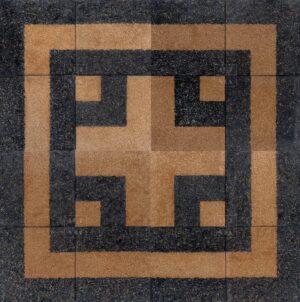 Арт-объект. Картина. Земляной квадрат III