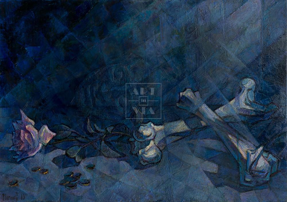Картина. Натюрморт. Посмертная маска А. С. Пушкина