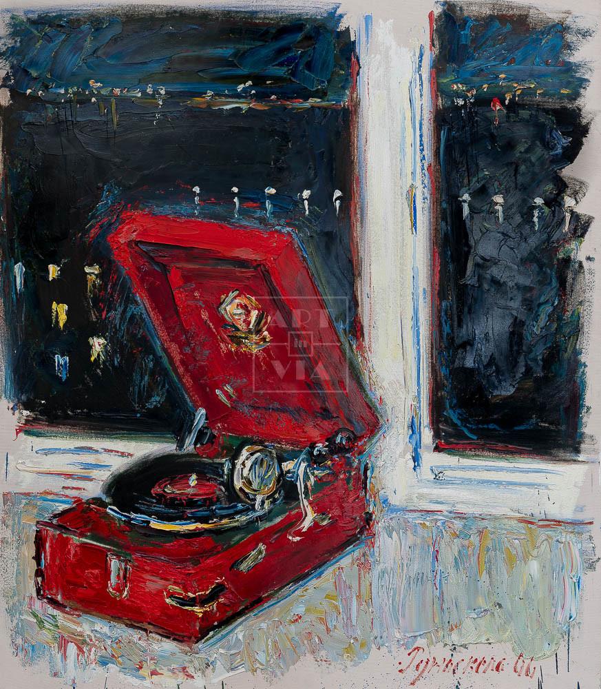 Картина. № 5. Натюрморт с патефоном на окне