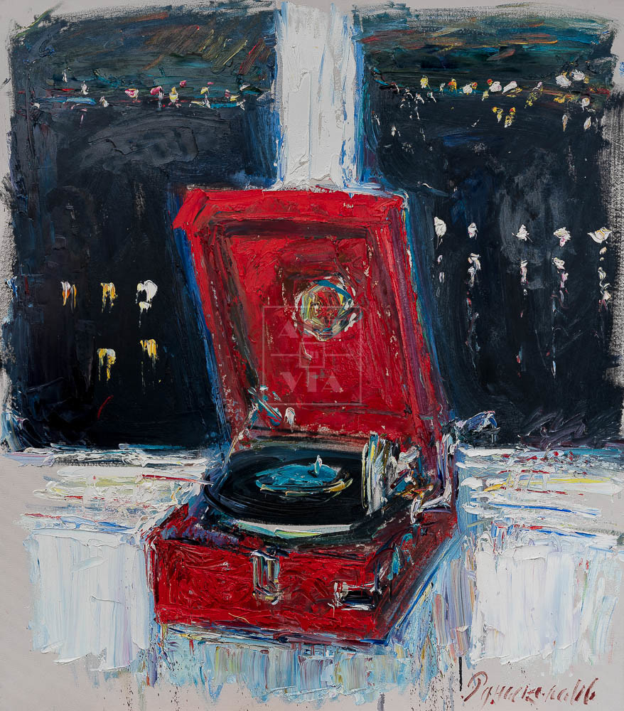 Картина. № 6. Натюрморт с патефоном на окне