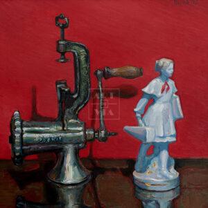 Картина. № 2. Натюрморт со статуэткой пионерки