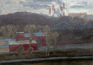 Картина. Москва. Мартовский пейзаж