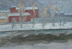 Картина. Москва. Февральский пейзаж