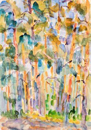 Картина. Пейзаж. № 12. Сквозь кроны сосен