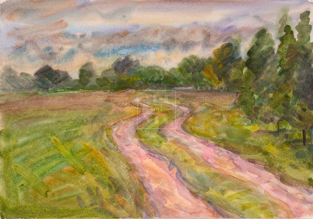 Картина. Пейзаж. Дорога. Окрестности Кинешмы