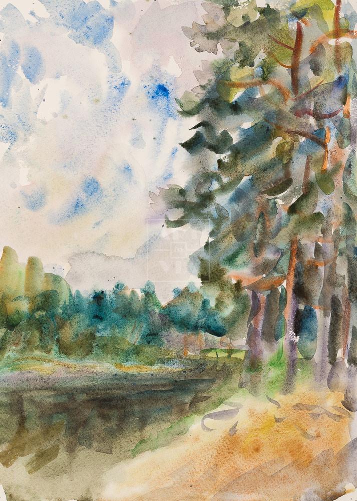 Картина. Пейзаж. С высокого берега