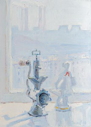 Картина. № 10. Натюрморт со статуэткой и мясорубкой