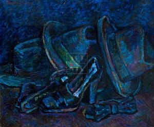 Картина. Натюрморт с бабочкой и шляпами
