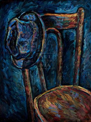 Картина. Натюрморт со стулом и шляпой