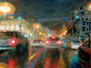 Картина. Пейзаж. Москва. Театральная площадь