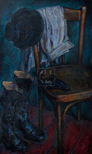 Картина. Натюрморт со стулом и сапогами