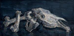 Картина. Натюрморт с черепом коня