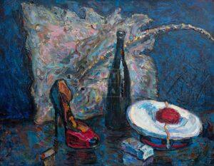 Картина. Натюрморт с французской бескозыркой