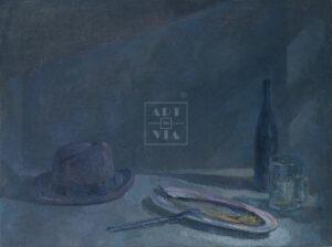 Картина. Натюрморт со шляпой и селедкой