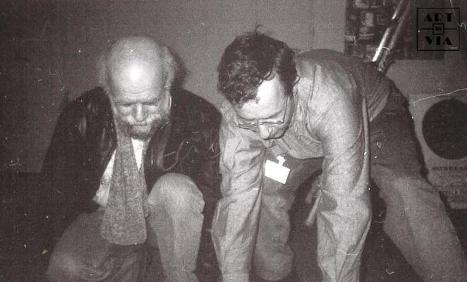 Художники М. Рогинский и А. Попов. Выставка «Гастроном» Франция. Париж. 5.03.1992 г.