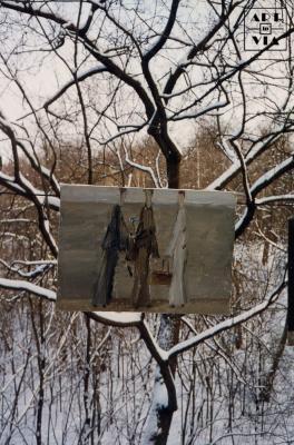 Выставка «Три фигуры» в Нескучном саду. 20.01.1996 г.