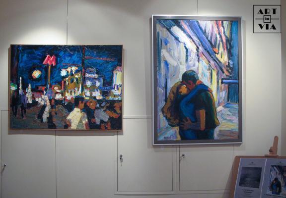 Выставка «Тверская 0ч.-30м.» выставочный зал Российской Академии Искусств. 29.10.2009 г.