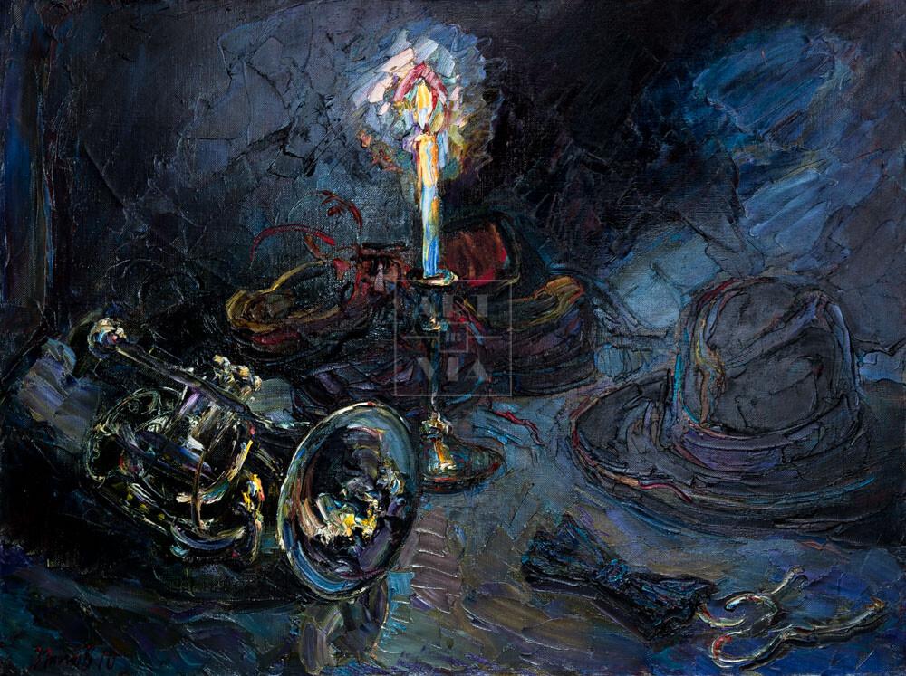 Картина. Натюрморт со свечой