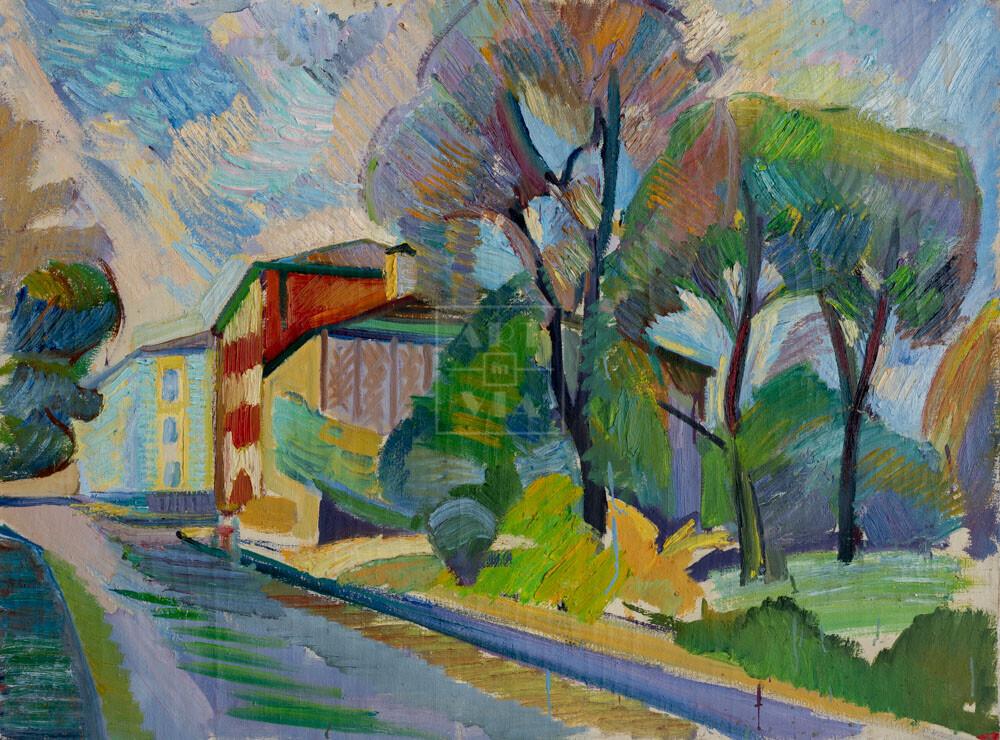 Картина. Пейзаж. Коробейников переулок