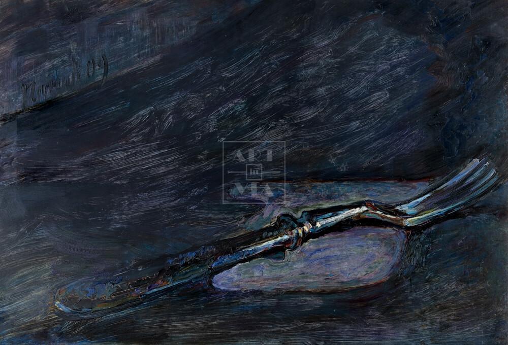 Картина. Натюрморт с вилкой