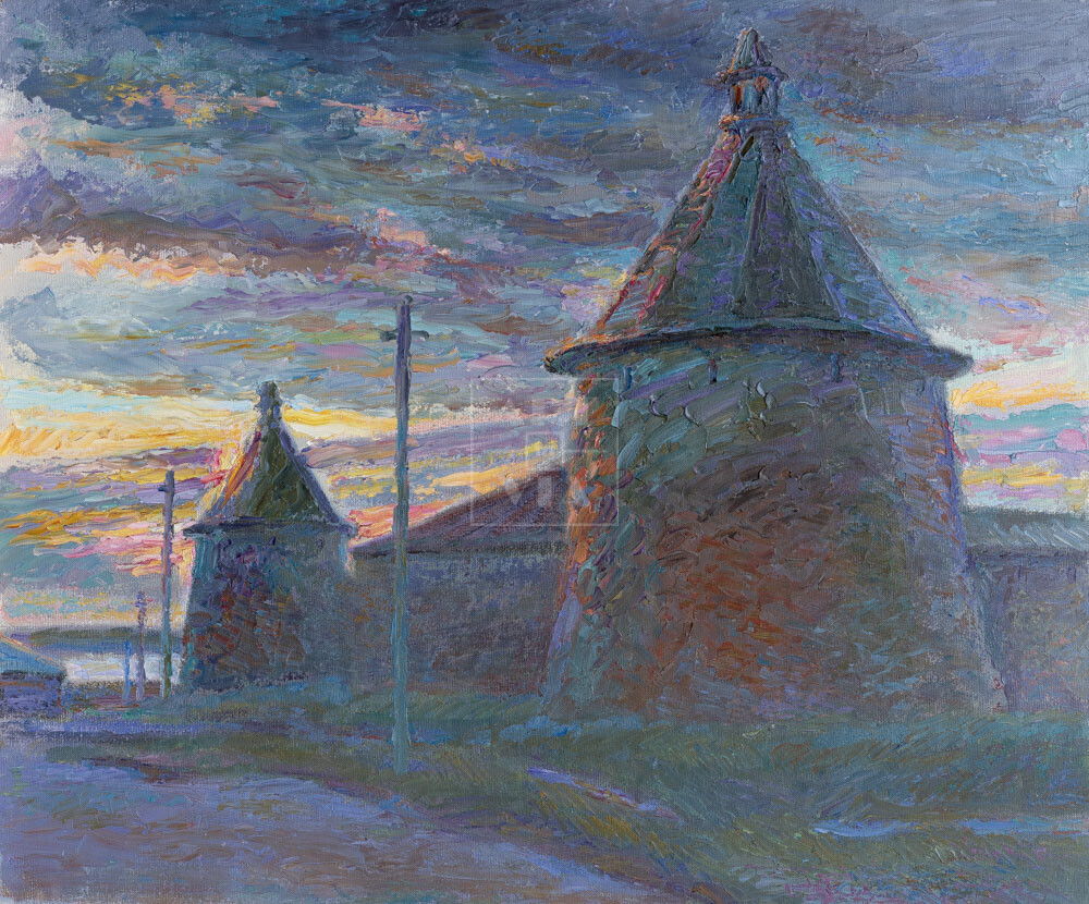 Картина. Пейзаж. Соловецкий монастырь