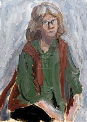 Картина. Портрет жены