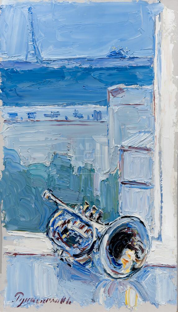 Картина. № 5. Натюрморт с трубой