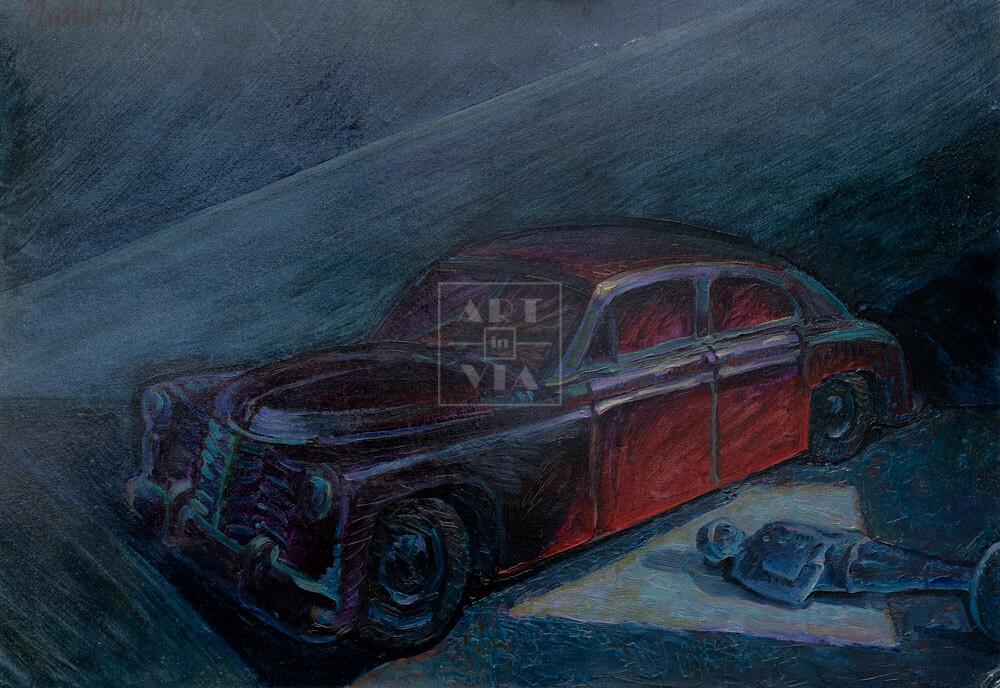 Картина. Натюрморт с машинкой и солдатиком