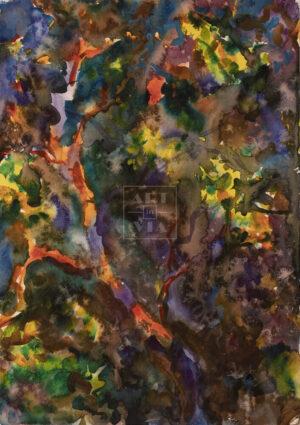 Картина. Абстрактный пейзаж