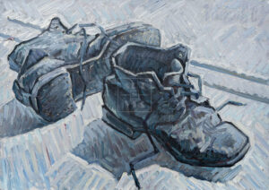 Картина. Натюрморт с советскими ботинками