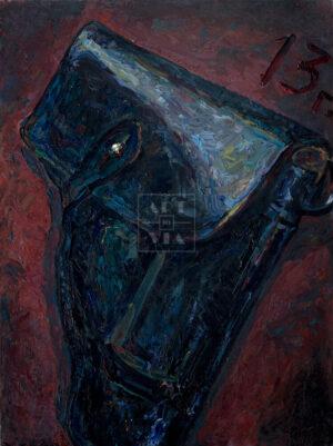 Картина. Натюрморт. Кобура пистолета