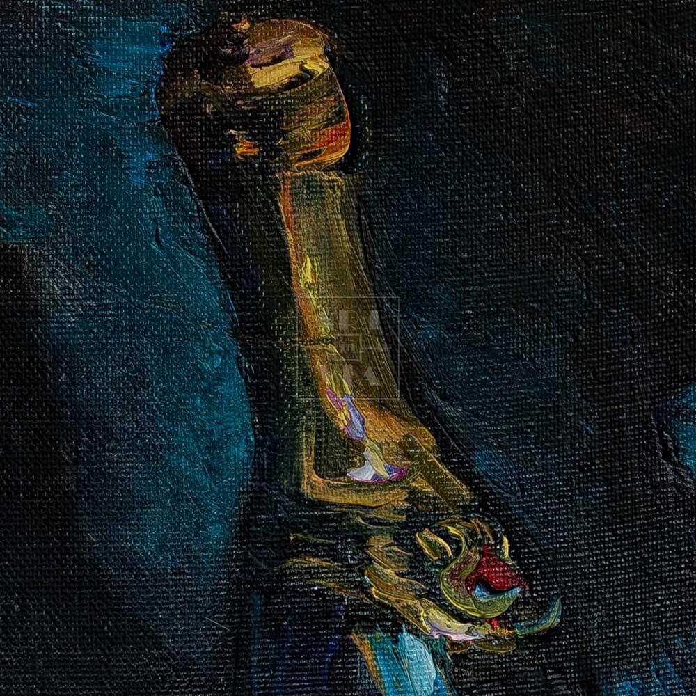 Фрагмент картины 2/3. Натюрморт с бескозыркой военно-морского флота