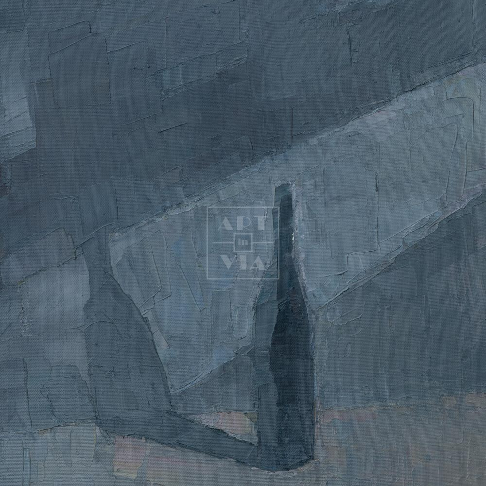 Фрагмент картины 1/3. Натюрморт с бутылкой