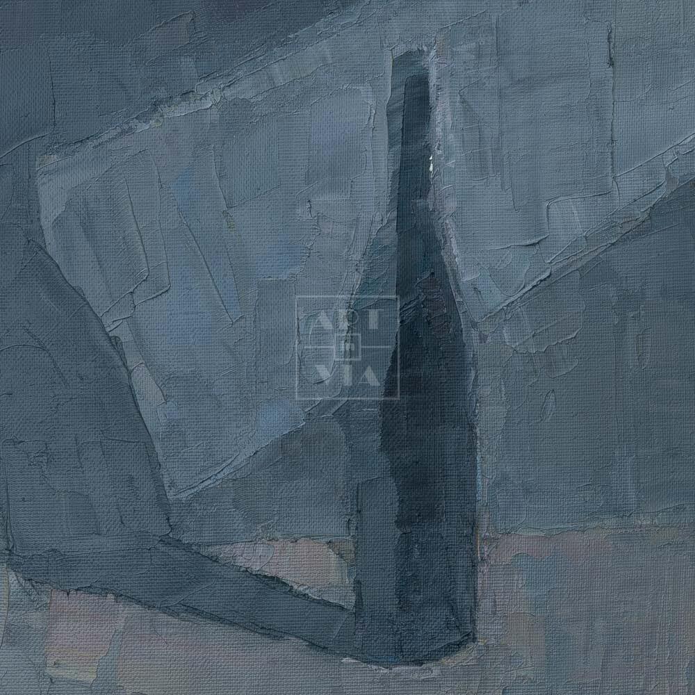 Фрагмент картины 3/3. Натюрморт с бутылкой