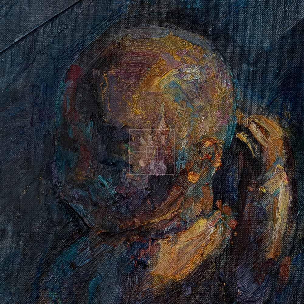 Фрагмент картины 2/3. Натюрморт с куклой и шляпой