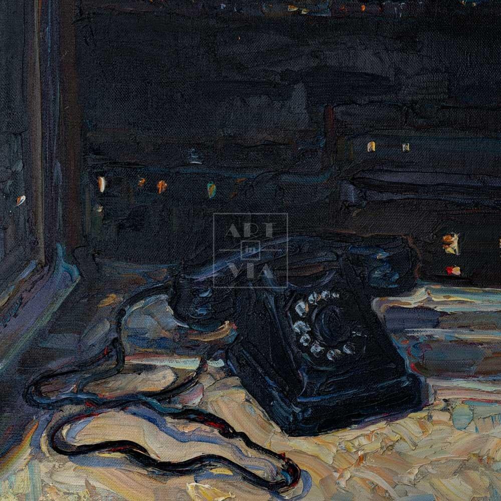 Фрагмент картины 1/3. Натюрморт с телефоном