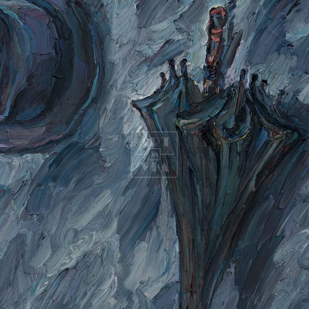 Фрагмент картины 1/3. Натюрморт с зонтом