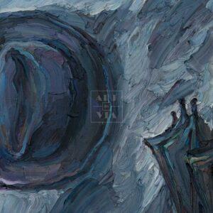 Фрагмент картины 3/3. Натюрморт с зонтом