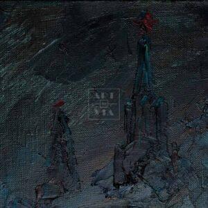 Фрагмент картины 2/3. Натюрморт с сапогами и шляпой