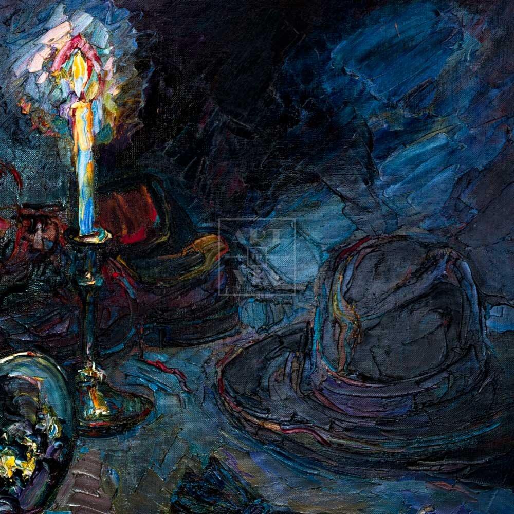 Фрагмент картины 1/3. Натюрморт со свечой