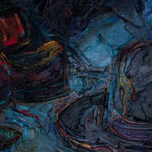 Фрагмент картины 2/3. Натюрморт со свечой