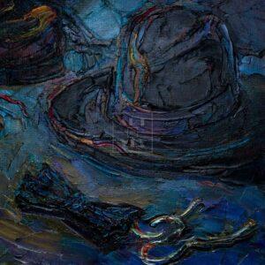 Фрагмент картины 3/3. Натюрморт со свечой
