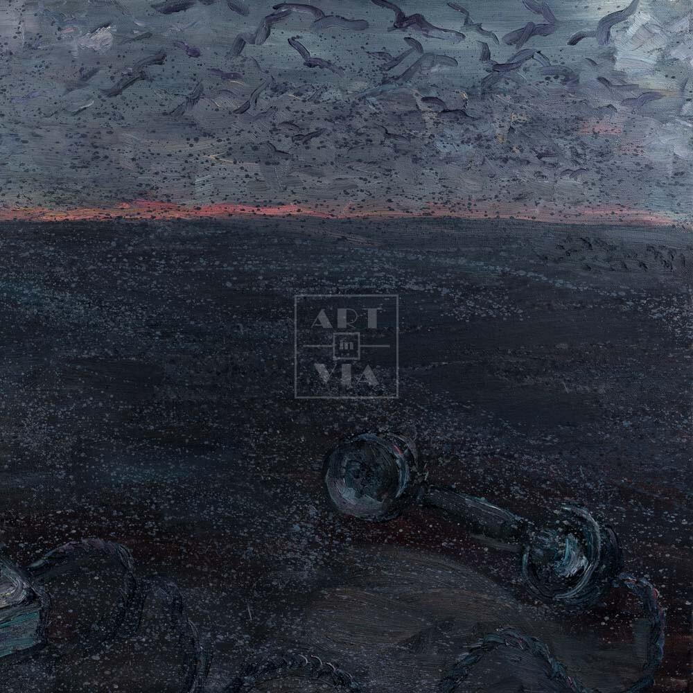 Фрагмент картины 1/3. Пейзаж. Позвони