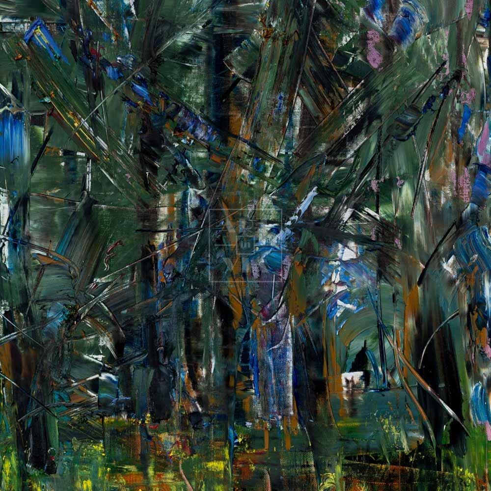 Фрагмент картины 1/3. Пейзаж. Чем дальше в лес, тем меньше мудаков