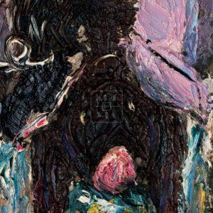 Фрагмент картины 2/3. Бытовой пейзаж. Загон