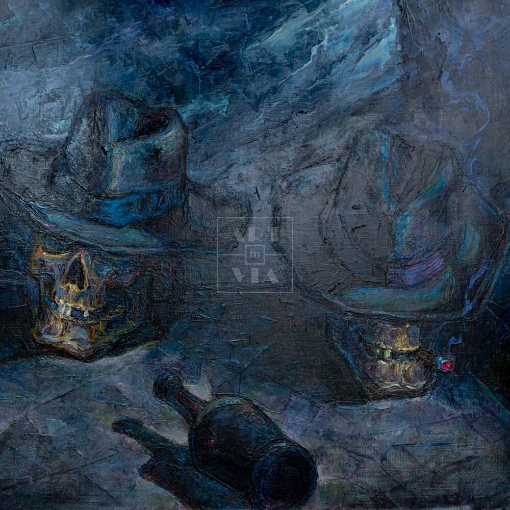 Фрагмент картины 1/3. Ванитас. Рулетка смерти