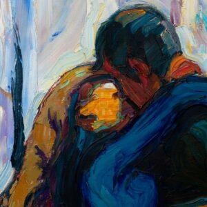 Фрагмент картины 3/3. Пейзаж. Поцелуй