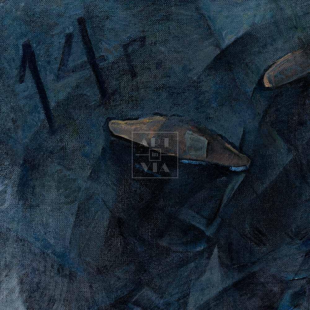 Фрагмент картины 3/3. Натюрморт. Черные офицерские сапоги